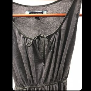 Fit flare charcoal tank top - S